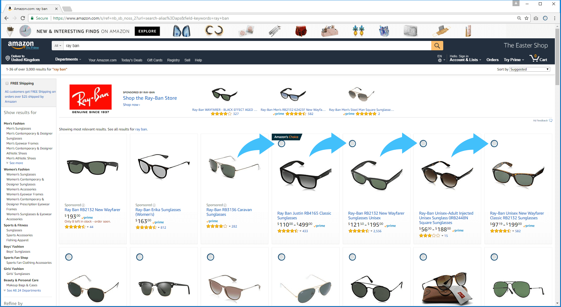 Run Amzpecty within Amazon Search Results Page
